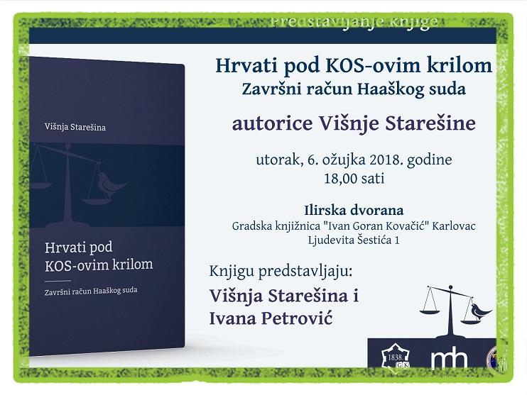 Pozivamo Vas Na Predstavljanje Knjige Hrvati Pod Kos Ovim Krilom